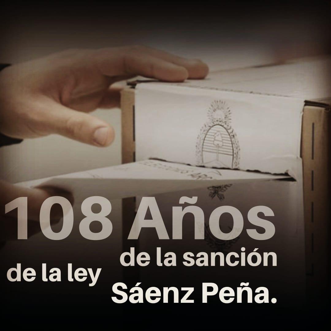 108 años de la Ley Sáenz Peña